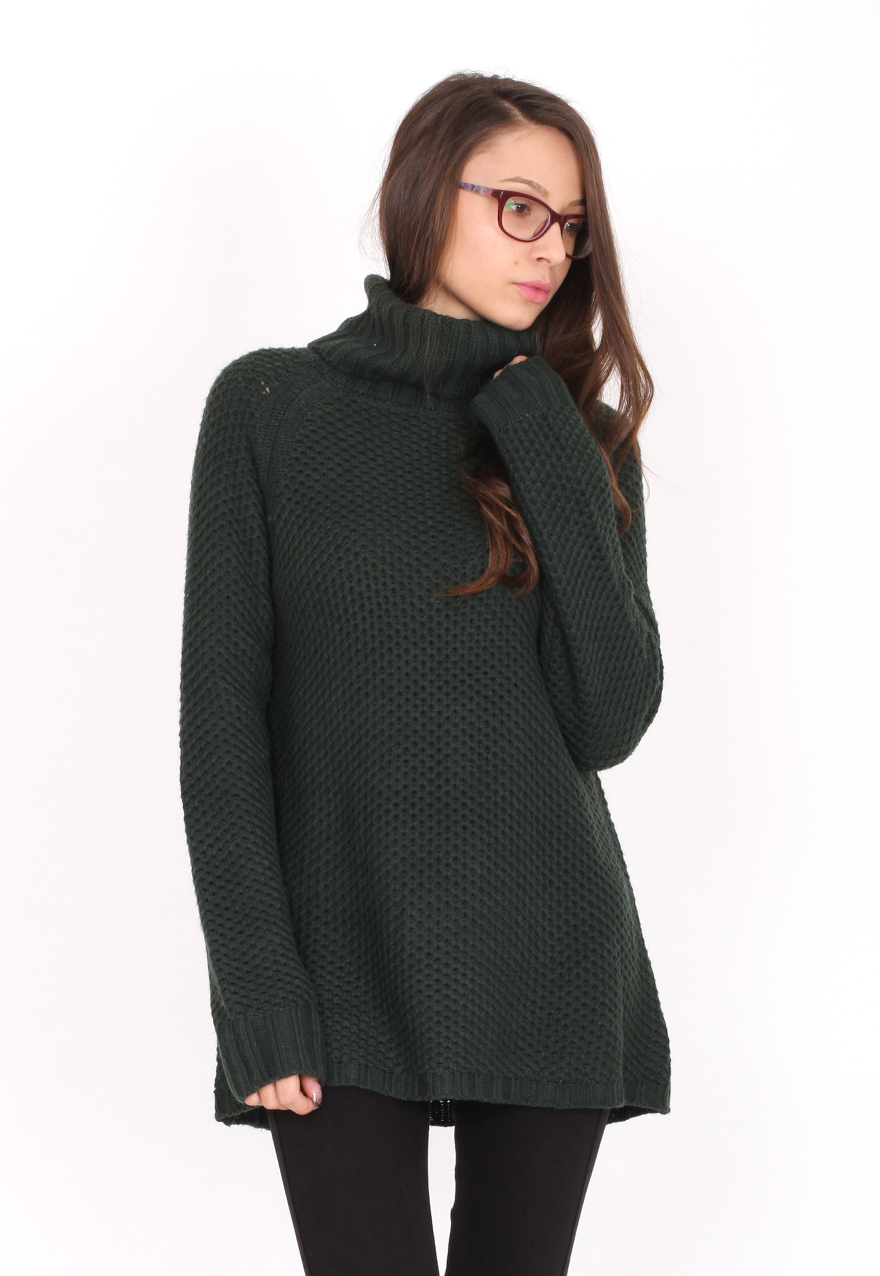 Pulover Pull and Bear Ophta Dark Green