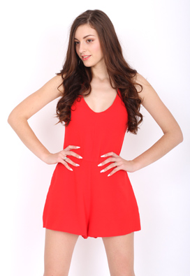 SALOPETA PULL AND BEAR COLLECTION RED