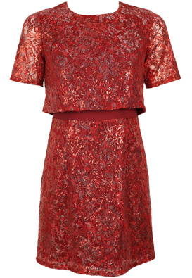 ROCHIE GLAMOROUS SHINY RED