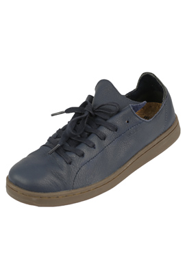 SNEAKERS PIELE WODEN SCANDINAVIAN HAILEY DARK BLUE