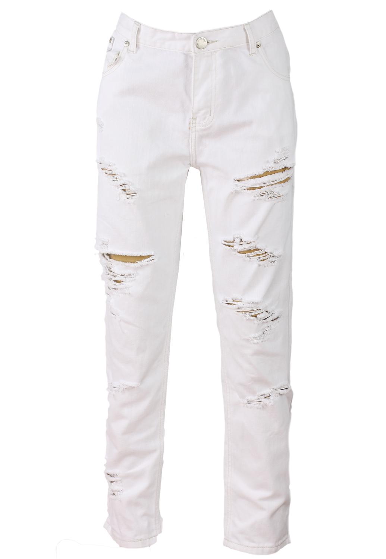 Pantaloni Glamorous Flies White