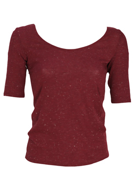BLUZA NAF NAF ZOE DARK RED