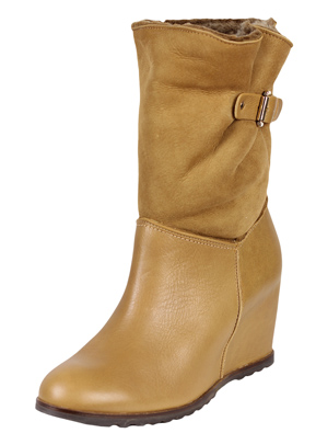 BOTINE PIELE UTERQUE SIMPLE LIGHT BROWN