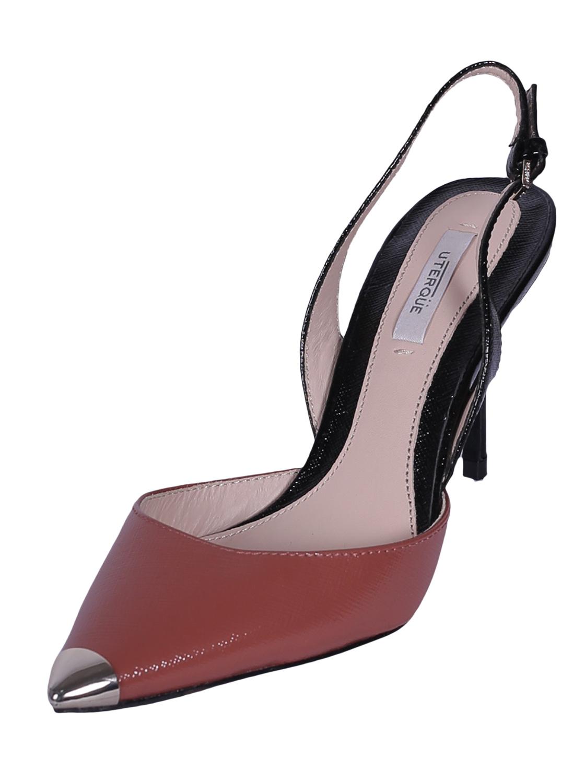 Pantofi Piele Uterque Blam Dark Pink