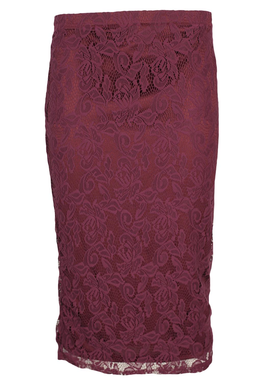 Fusta Glamorous Hailey Dark Red