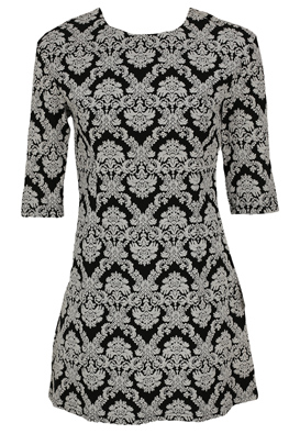ROCHIE GLAMOROUS HAILEY BLACK AND WHITE