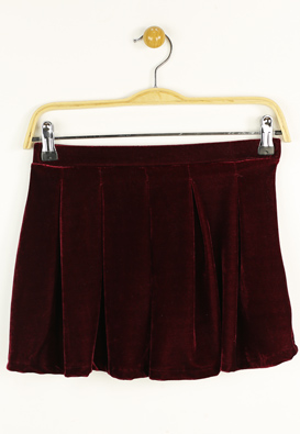 FUSTA ZARA FANCY DARK RED