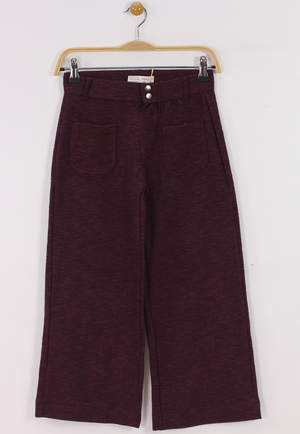 Pantaloni ZARA Tela Dark Red