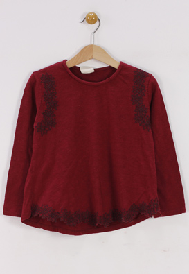 BLUZA ZARA CHLOE DARK RED