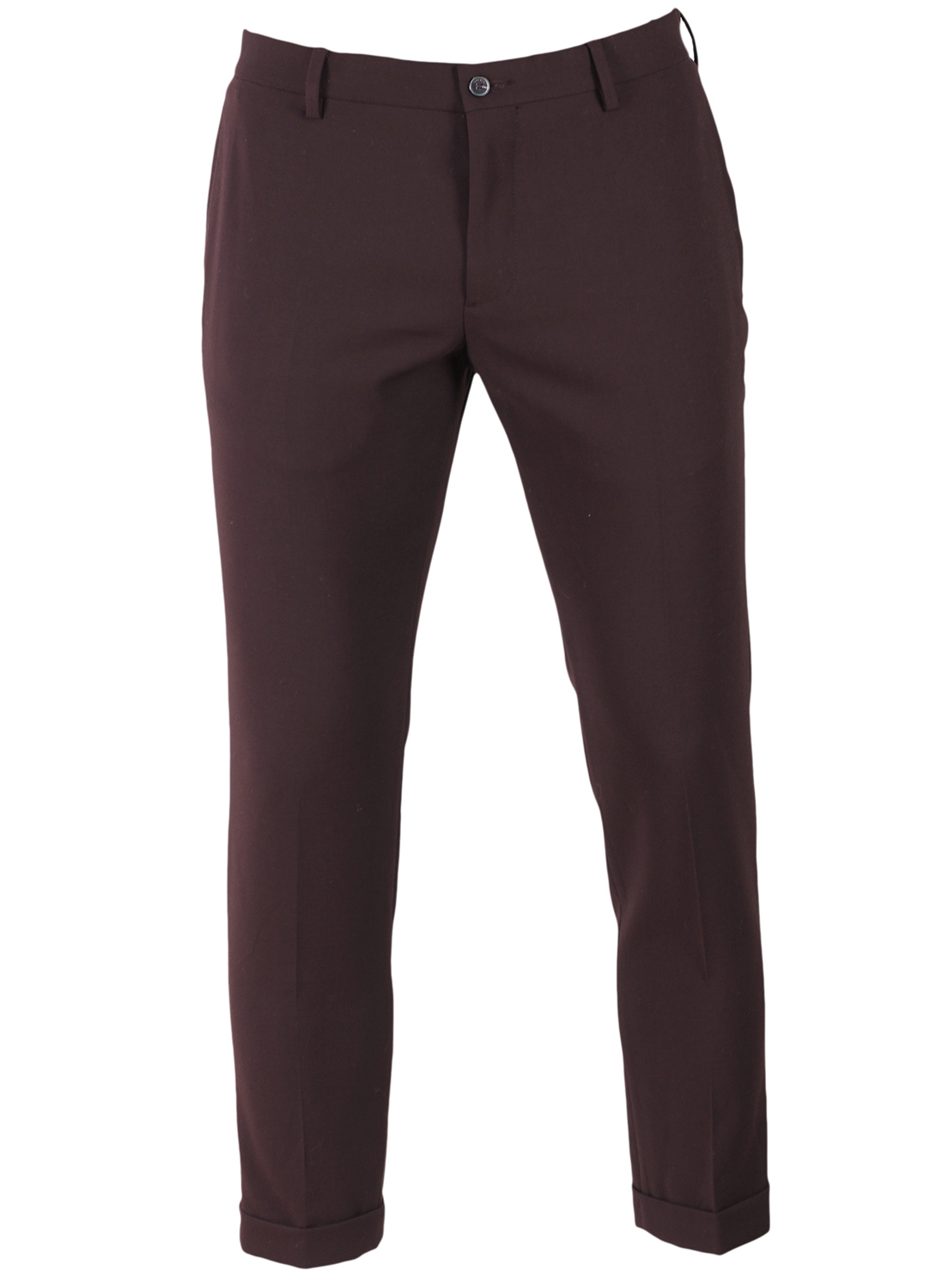 Pantaloni De Stofa Zara Fred Dark Red