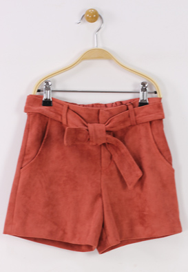 PANTALONI SCURTI ZARA RALUK DARK RED