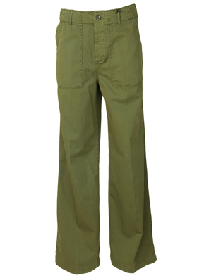 PANTALONI ZARA FLIES DARK GREEN