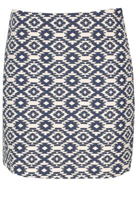 FUSTA MANGO CIARA WHITE AND BLUE