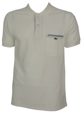 TRICOU POLO LACOSTE ECHO WHITE