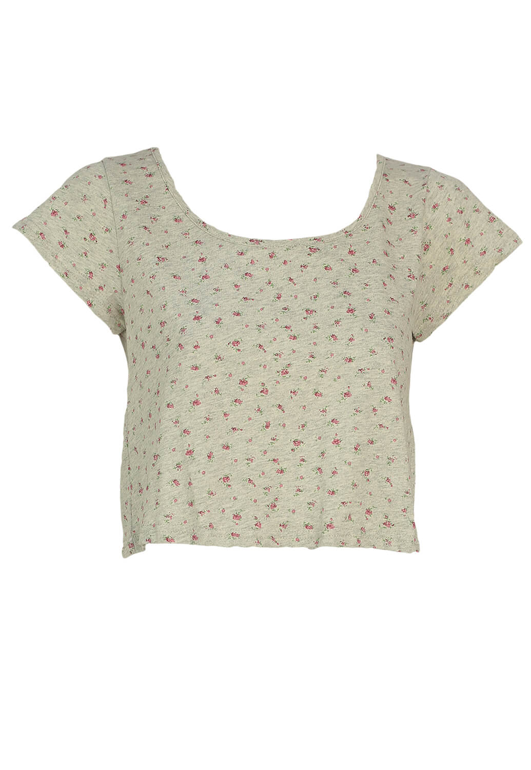 Tricou Hearts and Bows Girly Grey