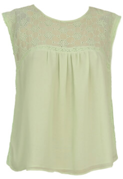 TRICOU STRADIVARIUS JODIE LIGHT GREEN