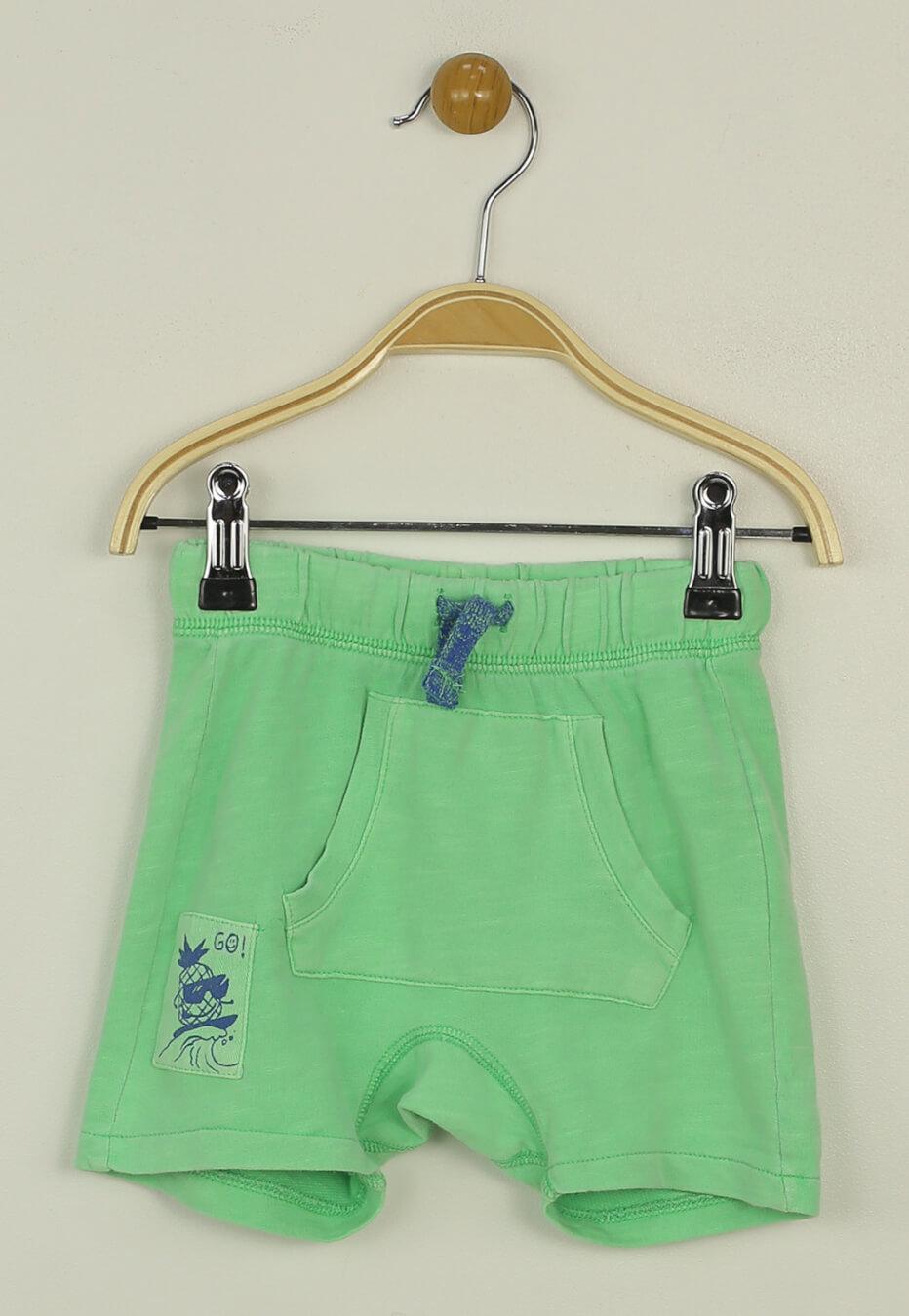 Pantaloni scurti ZARA Sporty Green