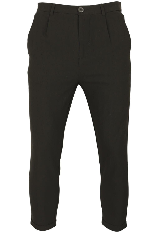Pantaloni de stofa Bershka Burt Black