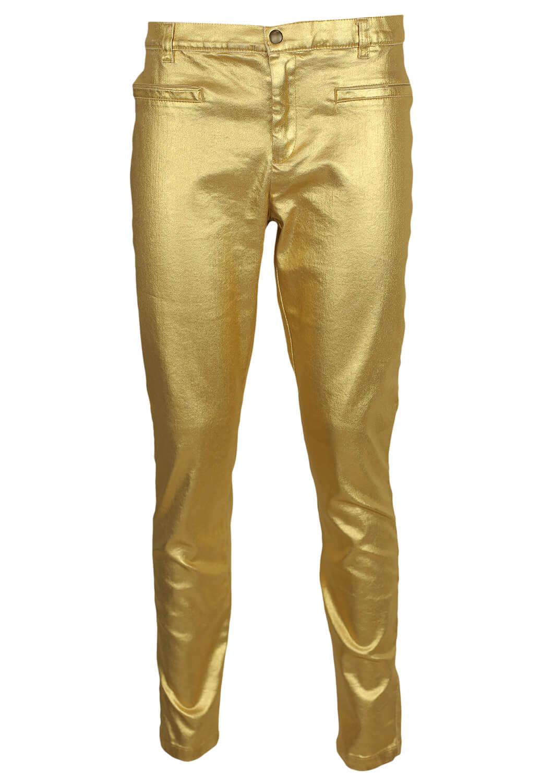 Pantaloni ZARA Shine Golden