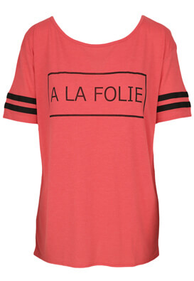 TRICOU CACHE CACHE SALLY PINK AND BLACK