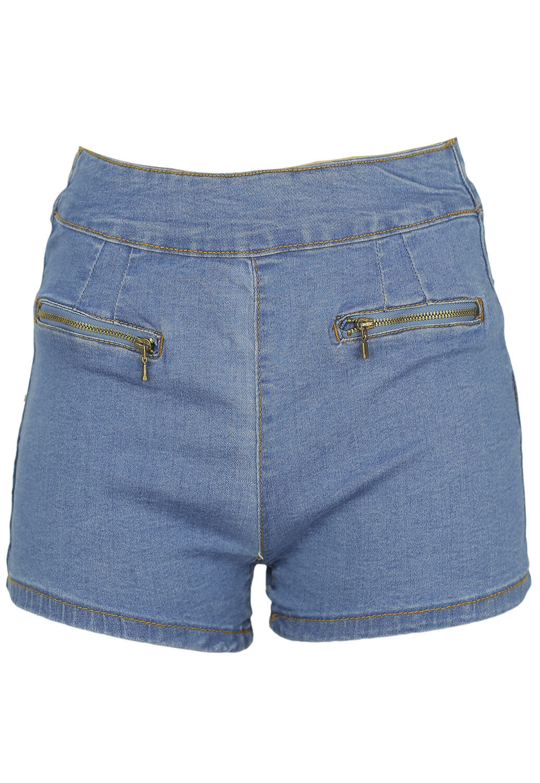 Pantaloni scurti Bershka Julia Blue