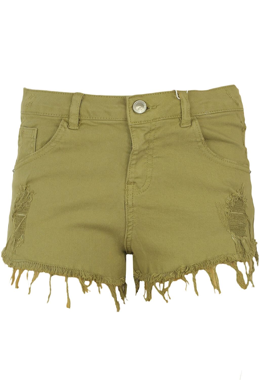 Pantaloni scurti Bershka Roxanne Dark Green