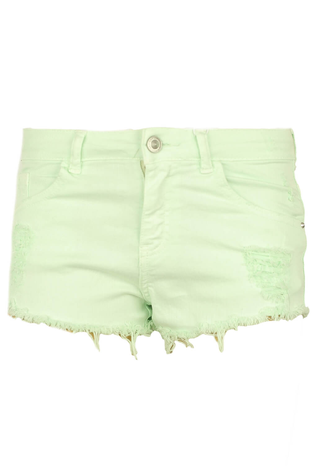 Pantaloni scurti Bershka Tara Light Green