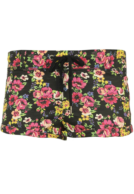 Pantaloni scurti Bershka Floral Black