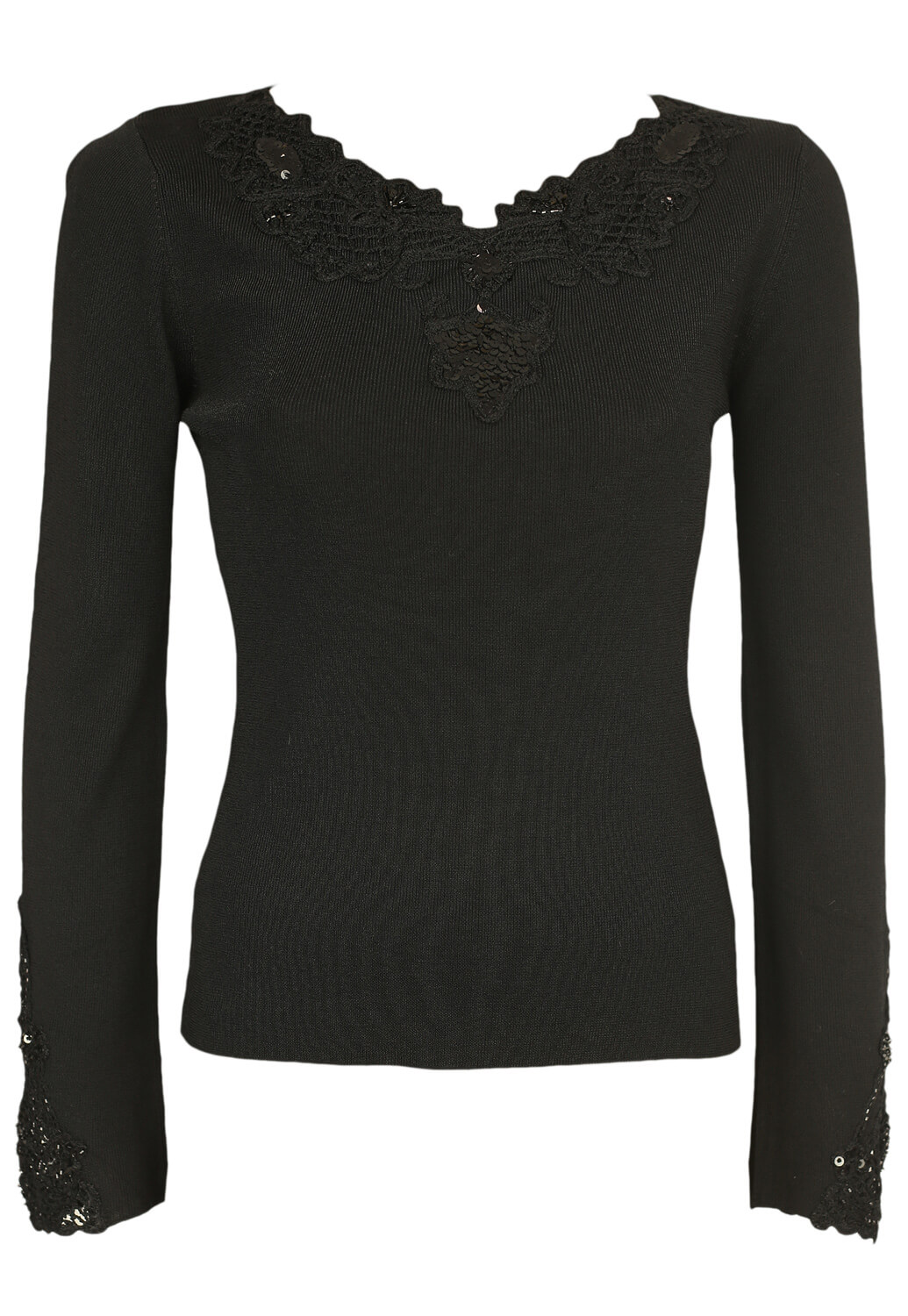 Bluza Miss Papillion Lace Black