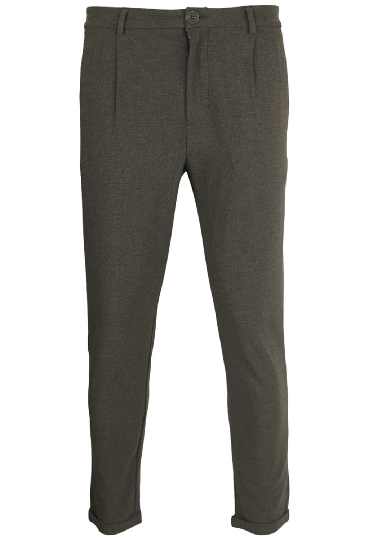 Pantaloni de stofa Bershka Chas Grey