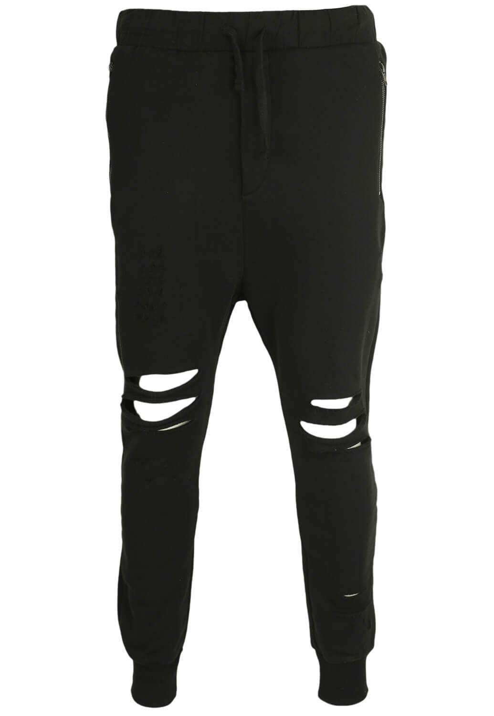 Pantaloni sport Bershka Baggy Black