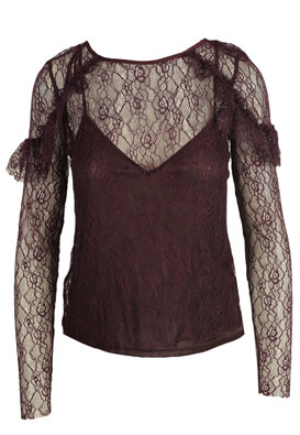BLUZA ZARA LIZZY DARK PURPLE