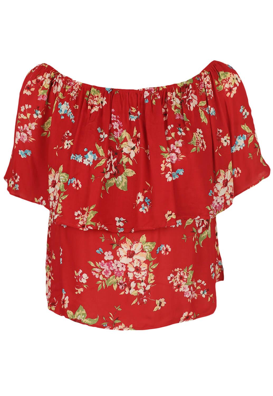 Top Bershka Floral Red