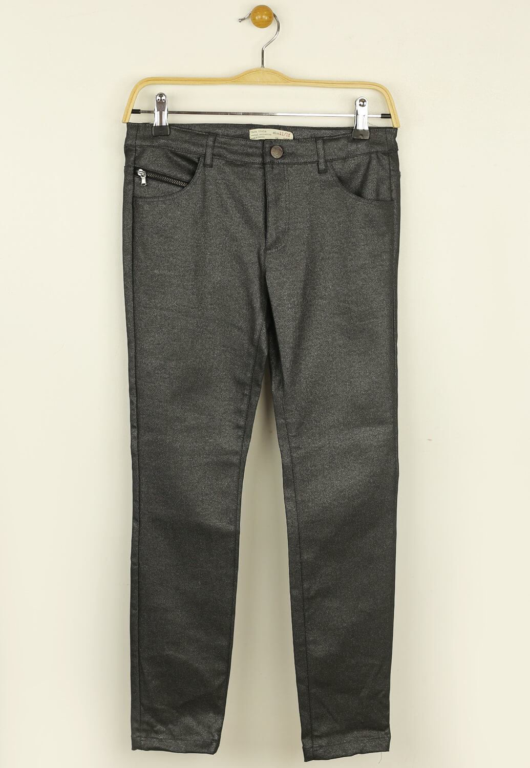 Pantaloni ZARA Shine Dark Grey