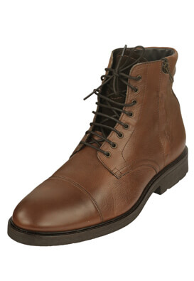 GHETE PIELE MASSIMO DUTTI SEAN DARK BROWN