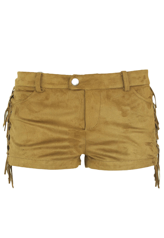 Pantaloni scurti Bershka Della Brown