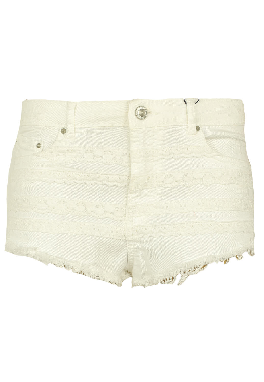 Pantaloni scurti Bershka Enna White