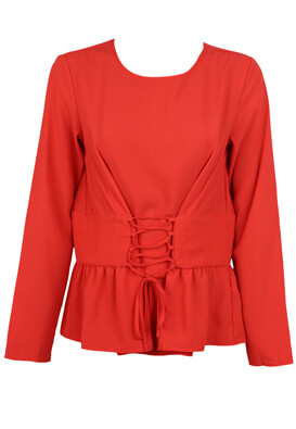 BLUZA PIECES CHRISTINE RED