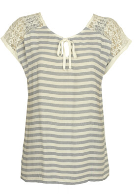 TRICOU ORSAY DOLLIE WHITE AND BLUE