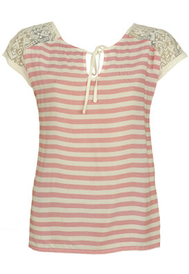 TRICOU ORSAY DOLLIE WHITE AND RED