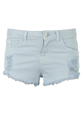 PANTALONI SCURTI BERSHKA SHELLEY LIGHT BLUE