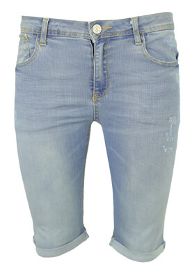 PANTALONI SCURTI BERSHKA GINA LIGHT BLUE