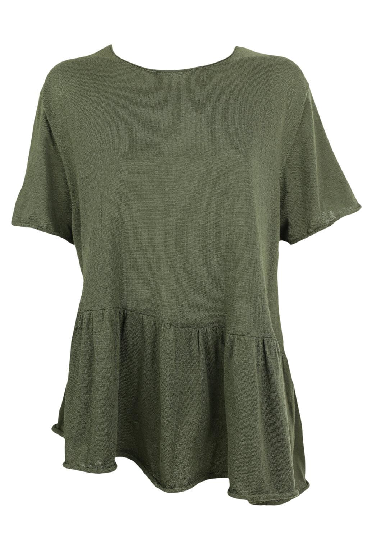 Tricou ZARA Ciara Dark Green