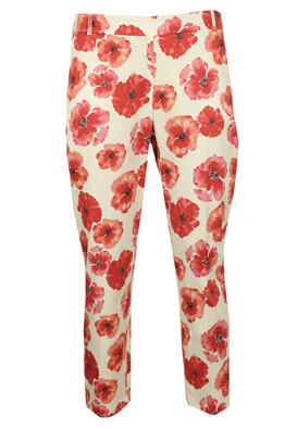 PANTALONI ORSAY ELISA WHITE AND RED