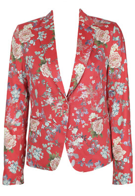 SACOU ORSAY FLORAL RED
