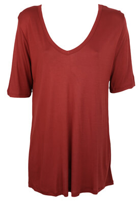 TRICOU PULL AND BEAR MAYA DARK RED