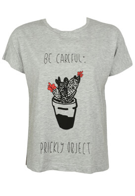 TRICOU PULL AND BEAR NICOLE GREY