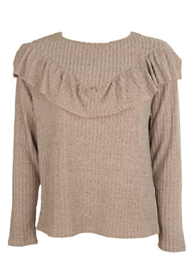 BLUZA PULL AND BEAR LOIS DARK PINK