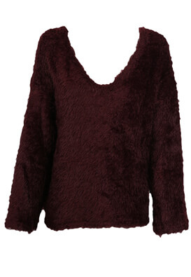 PULOVER PULL AND BEAR GINA DARK PURPLE