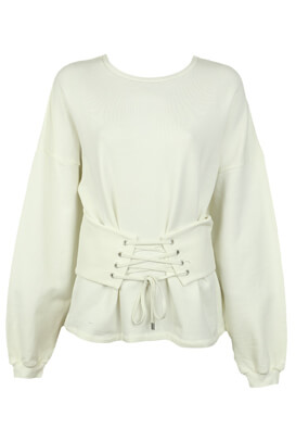 BLUZA PULL AND BEAR ANYA WHITE